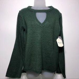 Altar'd State V-Neck Choker Sweater Size Large